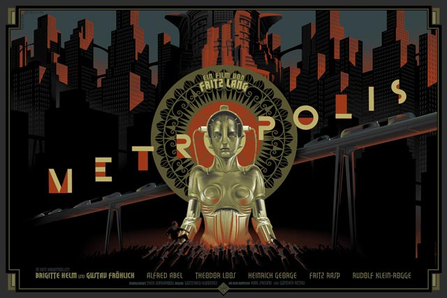 Metropolis movie poster Laurent Durieux